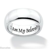 I Am My Beloved's And My Beloveds Mine Stainless Steel Ring 6 7,8,9,10,11,12,13
