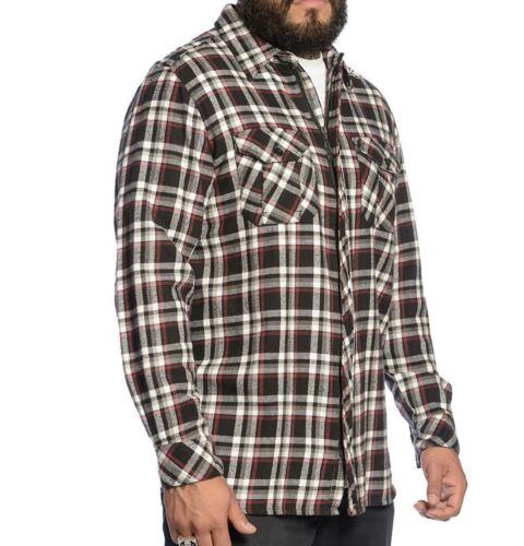 Limit Zip Up Men/'s Flannel by Sullen