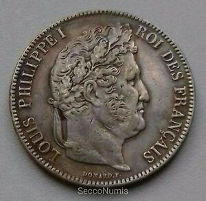 France-Louis-Philippe-I-5-Francs-1842-K-Bordeaux-QUALITE