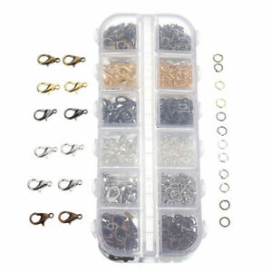 840-Pcs-Lobster-Clasp-Hook-Jump-Ring-Necklace-Bracelet-Chain-DIY-Jewelry-Making