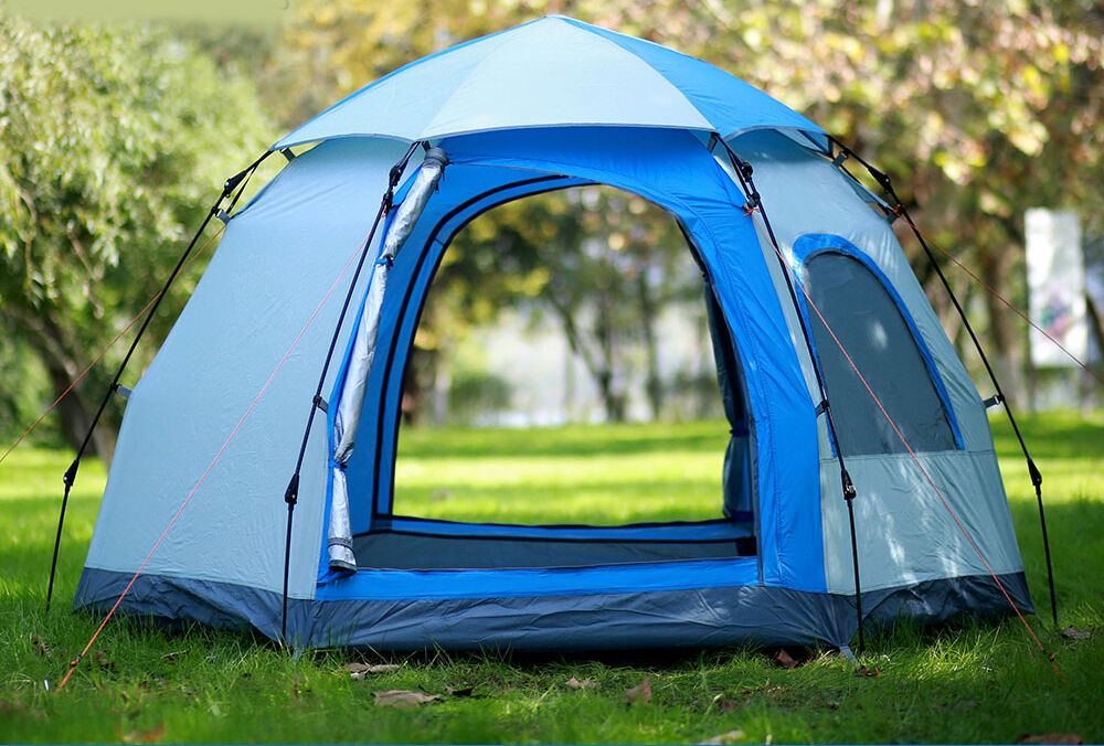 Blau 3-4 Persons POP UP 1'S Family Outdoor Waterproof Camping Hiking Tent