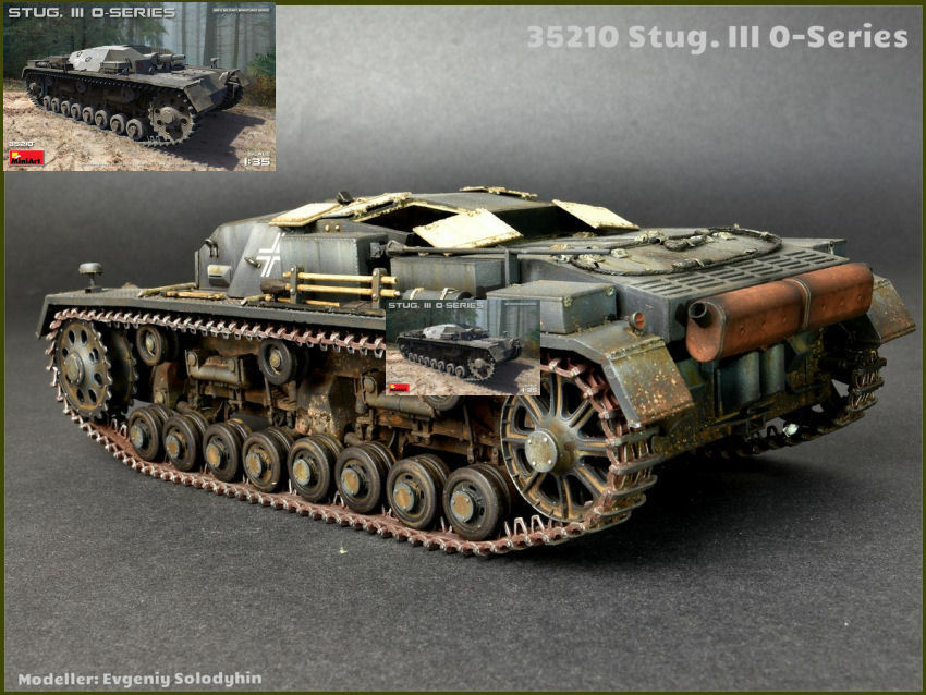 Stug. III 0-series tank plastic model kit 1 35 miniart