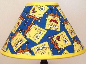 Spongebob squarepants fabric childrens lamp shade ebay image is loading spongebob squarepants fabric children 039 s lamp shade aloadofball Choice Image