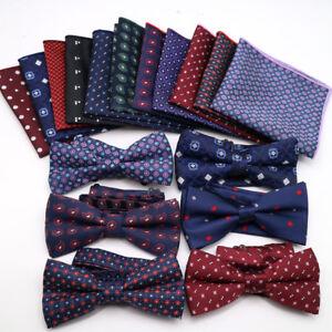 2019Mens-Bow-Tie-Handkerchief-Set-Silk-Pocket-Square-Polka-Dot-Wedding-Tie-Hanky