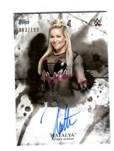 WWE-Natalya-2018-Topps-Undisputed-On-Card-Autograph-SN-83-of-199
