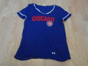 Women s Chicago Cubs M T-Shirt Tee Under Armour Heat Gear Semi-Shear ... bc44cb97c5