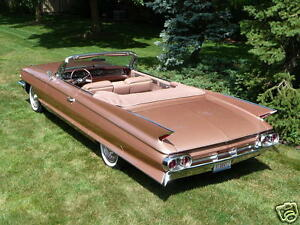 1960 Cadillac SERIES 62 Convertible WHITE Refrigerator Magnet 40 MIL