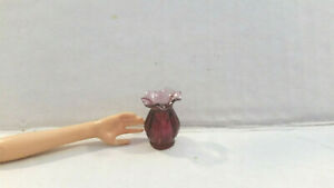 Dollhouse Miniature or Barbie Glass Flower Vase
