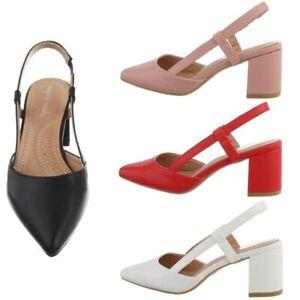 Scarpe da donna sandali sabot simil pelle tacco alto largo estivi eleganti sexy