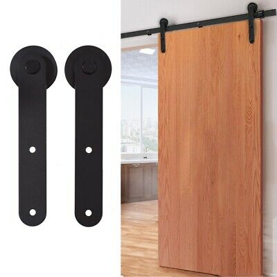5//6//6.6//8//10//12FT Track Sliding Barn Door Hardware Kit for Single//Double Door