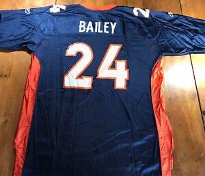 Denver Broncos Jersey  24 Champ Bailey Mens XL NFL Equipment Reebok ... 7e5839352