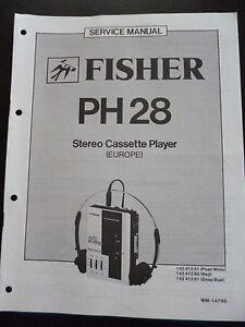 100% Wahr Original Service Manual Fisher Ph28 Durchsichtig In Sicht