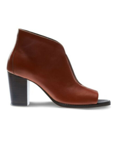 Women Brown NEW!! Wolverine Athena Open Toe Bootie