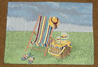 Sunny Days Picnic Basket/lemonade/sun Chair Tapestry Placemat