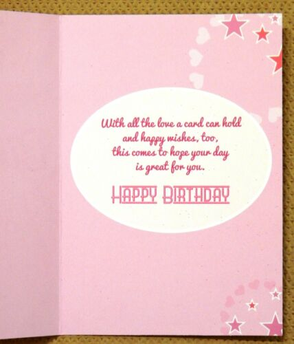 6 Pack of Assorted Female Ladies Girls Childrens Teenager Open Birthday Cards //0