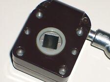 Markisengetriebe 7:1,RAL 8019 Braun Getriebe für Markisen,  Öse Blank