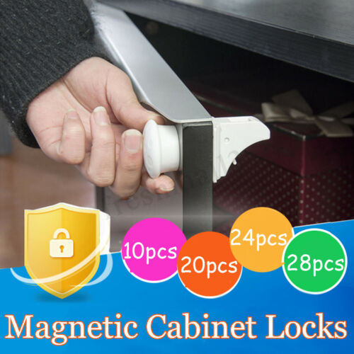 Magnetic Cabinet Drawer Cupboard Proof Baby Kids Safety Locks 10//20//24//28//30 PCS