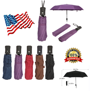 1913616b6 Mini Travel Automatic Umbrella 3 Folding Compact Rain Windproof Auto ...