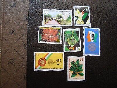 Côte D Ivoire Briefmarke Yvert/tellier N° 522 A 528 N Mnh Ou Nsg col4