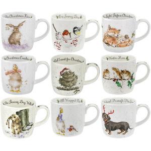 Wrendale-Mug-Royal-Worcester-Animal-Animals-Mugs-Choice-of-Designs-Christmas