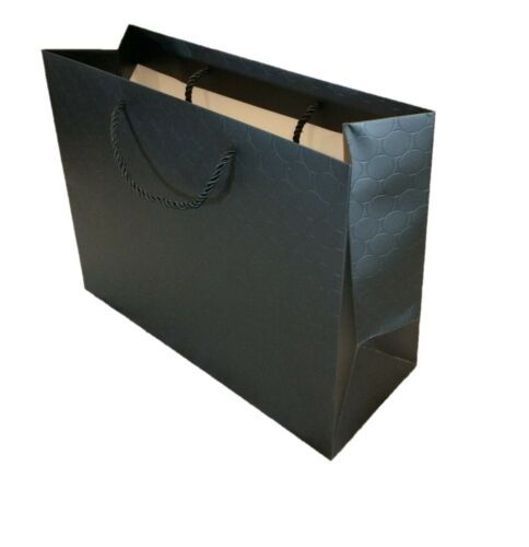 Gift Bags Large Black Paper Shopping Bags with handles Bulk Heavy Duty 13 x 10