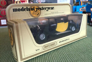 Lesney-Matchbox-Models-of-Yesteryear-Y24-Bugatti-T44-Black-amp-Yellow-1-38-diecast