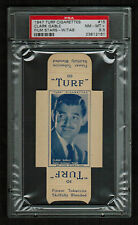 PSA 8.5 CLARK GABLE 1947 Turf Cigarette Card #15 COMPLETE WITH TABS One Higher