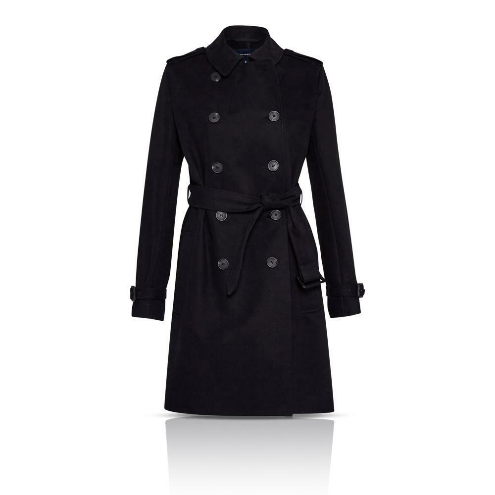 French Connection FCUK 70GAB LibreWAY Cotton Belted Trench Classique Manteau