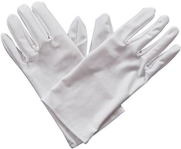 Gents Short Gloves Magician Halloween Adults Mens Fancy Dress Accessory