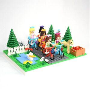 Lego Friends Display Country Bike Ride Mia Olivia Andrea Stephanie