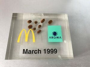 McDONALDS ADVERTISING DISPLAY AWARD SIGN PROMO Coffee Beans Paperweight * SALE *