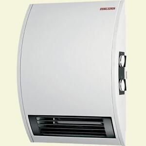 wall mounted timer electric fan heater office bathroom basement rh ebay co uk Electric Garage Heaters Large Electric Heater for Basements
