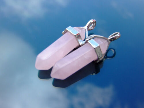 Gemstone Natural Stone Crystal Quartz Healing Point Chakra Pendant Necklace b15
