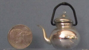 U-S-ZONE-GERMANY-ANTIQUE-MINIATURE-TINY-TEA-POT-BLOWN-MERCURY-GLASS-SALE-T5