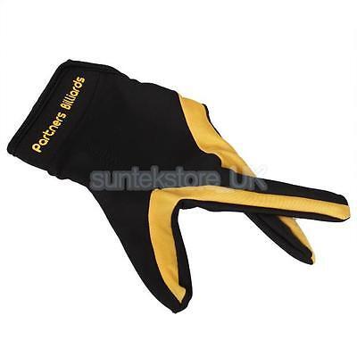 Cue Left Hand 3 fingers Billiard Pool Glove for Billiard Table Snooker Stretch