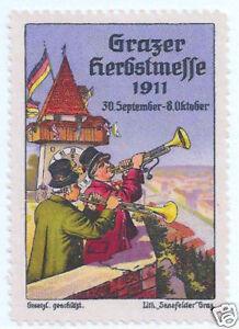 POSTER-STAMP-AUSTRIA-1911-GRAZ-AUTUMN-FAIR