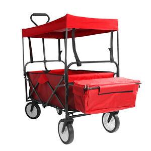 bollerwagen mit dach plane faltbar klappbar handwagen gartenwagen transportkarre ebay. Black Bedroom Furniture Sets. Home Design Ideas