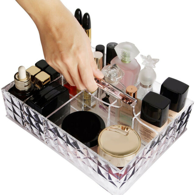 Beau Lifewit Makeup Organizer Acrylic Cosmetic Storage Lipstick Holder With  Handle