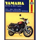 Yamaha XS750 and 850 3-cylinder Models Owner's Workshop Manual by Mansur Darlington (Paperback, 1990)