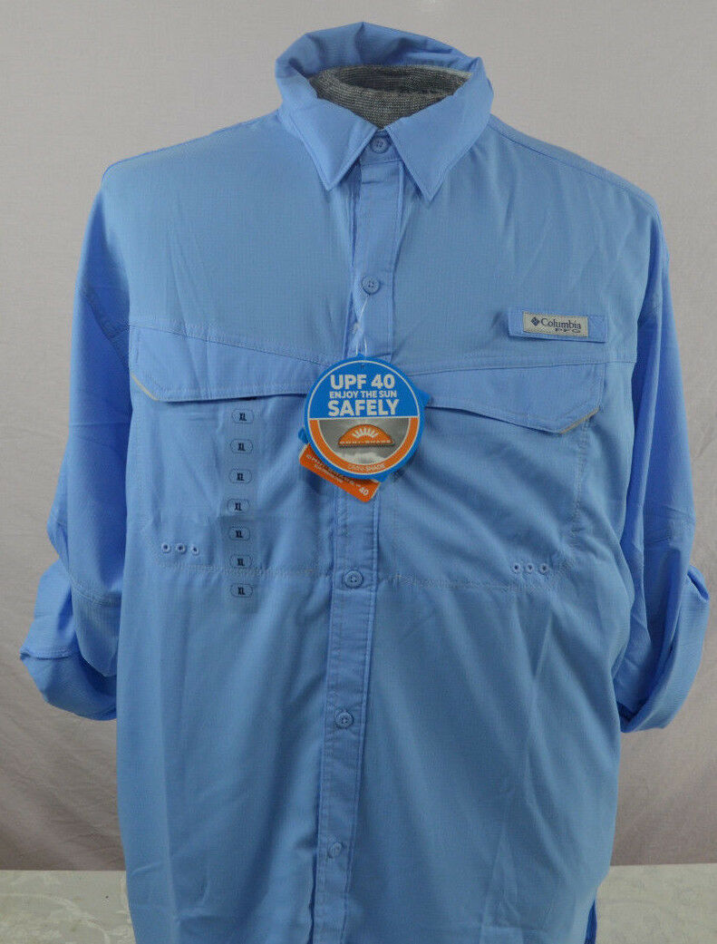 Mens Columbia PFG UPF 40 Low Drag Offshore LS Shirt New with tags Long Sz L