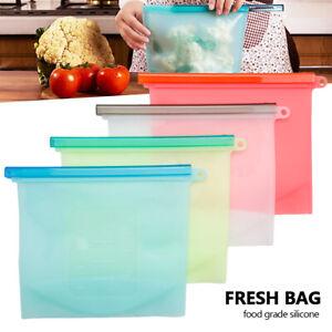 8PCS-Kitchen-Fresh-Zip-lock-Bag-Reusable-Silicone-Food-Freezer-Storage-Ziplock