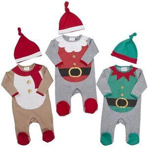La imagen se está cargando My-First-Navidad-Bebe -Ninos-Ninas-Pijama-Enterizo- 1192ae096b2