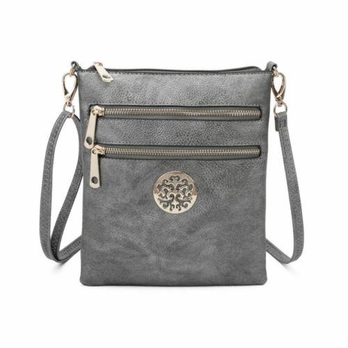 Ladies Cross Body Messenger Bag Women Shoulder Over Bags Detachable Handbags UK