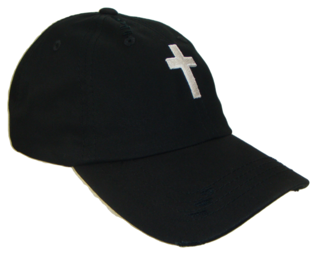 Christian Cross Black White Vintage Polo Baseball Cap Caps Dad Hat God Jesus de7c05cb8f60