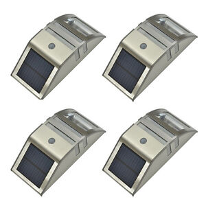 4 X Paradise Solar Powered Led Accent Security Wall Light