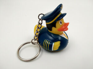 Porte clé canard pilote d'avion, neuf, 4x5,5cm cadeau sympa