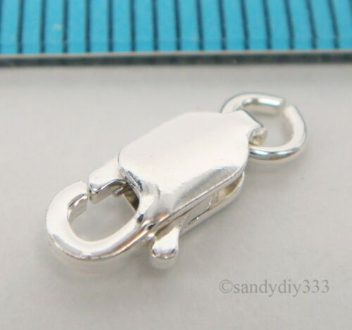#019A 10x ITALIAN  STERLING SILVER LOBSTER CLASP BEADS  4mm X 10mm
