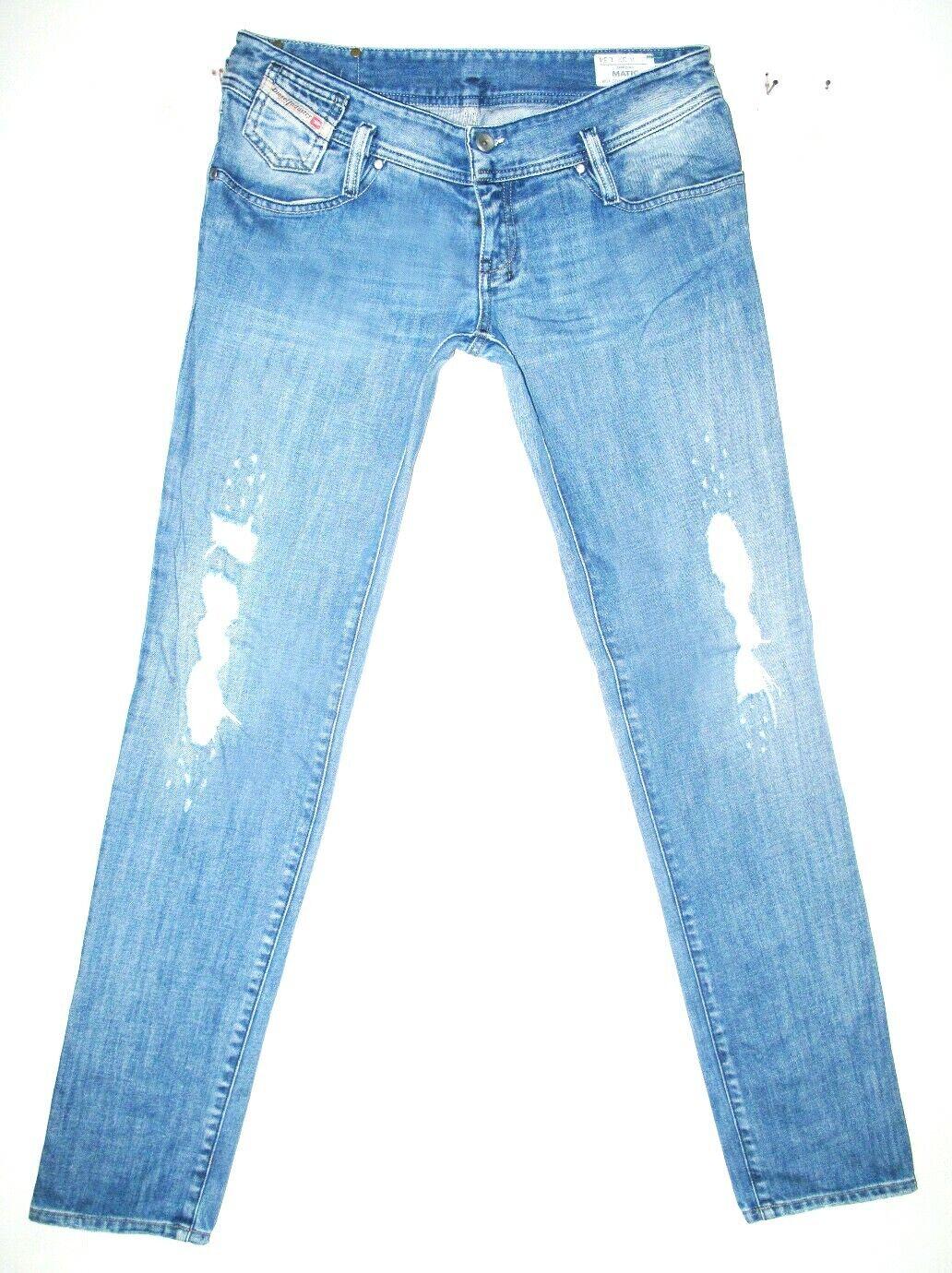 HOT AUTHENTIC Women's DIESEL @ MATIC 8AR Slim SKINNY DISTRESS Jeans 14  32 x 34
