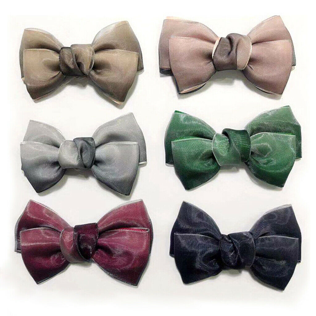 2Pcs Removable Bowknot Shoe Clips Solid Shoe Buckles for Wedding Party Prom