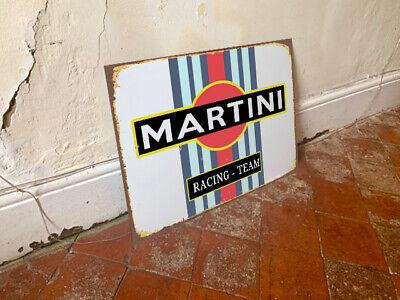 Vintage Garage Workshop MARTINI RACING TEAM METAL TIN SIGN POSTER WALL PLAQUE